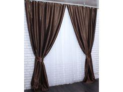 Шторы VR-Textil блэкаут Софт темно-коричневые 2 шт 1,5 × 2,75 м (2084)