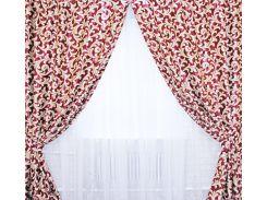 Шторы VR-Textil блэкаут двусторонний бордовые 1 × 2,7 м (2037)