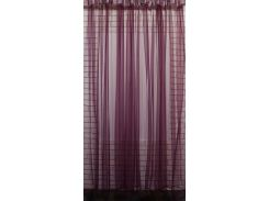 Тюль VR-Textil фатин бордовый монохромный 1 шт 5 × 2,5 м (2095)