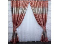 Шторы VR-Textil блэкаут Лиана пудровые 2 шт 1,5 × 2,7 м (2171)