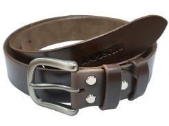 Ремень Zamshio кожаный коричневый (Z108,02)