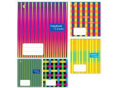 Набор тетрадей школьных 25 шт Тетрада 12 листов клетка А5 Фактурная 5 дизайнов (01181)