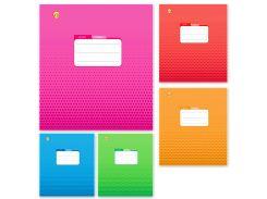 Набор тетрадей школьных 25 шт Тетрада 12 листов клетка А5 Фоновый Микс 5 дизайнов (01189)