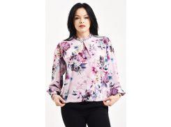Блуза Julin ТМ Джулин с воротничком-стойкой и украшением розовая размер 54 (BD120_5_54)