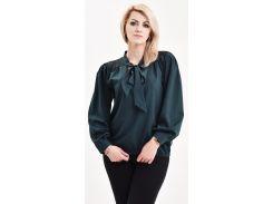 Блуза Julin ТМ Джулин с кружевом и бантом зеленая размер 48 (BD220_2_48)