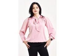 Блуза Julin ТМ Джулин с кружевом и бантом пудра размер 48 (BD220_1_48)