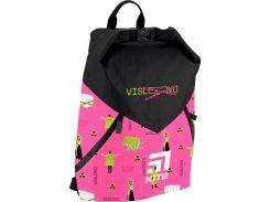 Рюкзак для спорта Kite Кайт 920-1 VIS 42,5×11,5×32 см 17 л черный с розовым (vis19-920l-1)