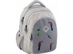 Рюкзак школьный Kite Кайт Education 8001-5 40×29×17 см 20,5 л серый (K19-8001M-5)
