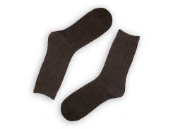 Мужские теплые носки ТМ Alex M (Алекс М) из верблюжьей шерсти коричневые 41-46 р (2002-16)