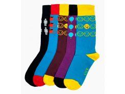 Набор ярких носков ТМ Alex M (Алекс М) Будь ярким из хлопка 5 пар 36-39 р (3001-1)