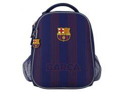 Рюкзак Kite Кайт Education FC Barcelona 38 × 29 × 16 см 16 л каркасный темно-синий (bc20-531m)