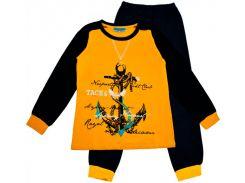Пижама Matilda Матильда 7551-4 черно-желтая размер 140 (7551-4-140)