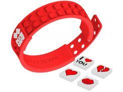 Браслет Pixie Crew красный, сердечки (PXX-02-55)