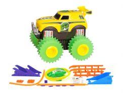 Машинка Трикс Тракс Trix Trux на батарейках с трассой желтая (JLT-AS331Y)