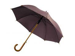 Зонт-трость Bergamo Toprain полуавтомат коричневый (4513101)