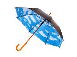 Зонт-трость Bergamo Toprain полуавтомат купол в виде неба чёрный (4513203)