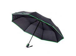 Зонт складной Bergamo Sky полуавтомат чёрный/зелёный (7040009)