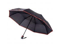Зонт складной Bergamo Sky полуавтомат черный/красный (7040005)