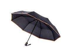 Зонт складной Bergamo Sky полуавтомат черный/оранжевый (7040010)