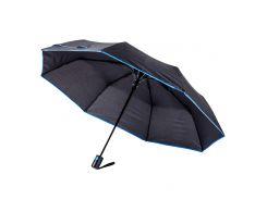 Зонт складной Bergamo Sky полуавтомат черный/синий (7040004)