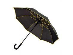 Зонт-трость Bergamo Line полуавтомат чёрный/жёлтый (7130008)