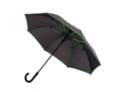 Зонт-трость Bergamo Line полуавтомат чёрный/зелёный (7130009)