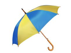 Зонт-трость Bergamo Toprain полуавтомат жёлтый/голубой  (4513108/04)