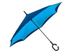 Зонт-трость Macma механический с обратным складыванием голубой (4047624)