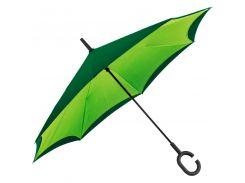 Зонт-трость Macma механический с обратным складыванием зелёный (4047629)