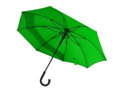 Зонт-трость Line Art Backsafe полуавтомат c удлиненной секцией зелёный (45250-9)