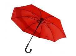 Зонт-трость Line Art Backsafe полуавтомат c удлиненной секцией красный (45250-5)