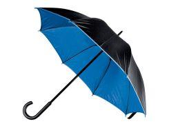 Зонт-трость Macma двухцветный механический чёрный/синий (4519704)
