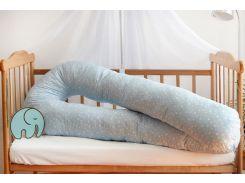 Наволочка на подушку для беременных Добрый сон 120 см голубая звездочка (13-01-1/6)