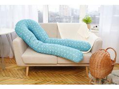Подушка для беременных 3 в 1 Добрый сон U-образная 120 см голубая в звезды (13-01/8)