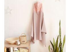 Полотенце с капюшоном Добрый сон вафельное полотно розовый (17-01/2)