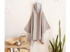Полотенце с капюшоном Добрый сон вафельное полотно серый (17-01/3)
