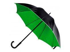 Зонт-трость Bergamo Bloom полуавтомат чёрный/зелёный (71250-9)
