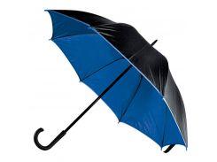 Зонт-трость Bergamo Bloom полуавтомат чёрный/тёмно-синий (71250-44)