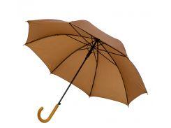Зонт-трость Bergamo Promo полуавтомат коричневый (45100-1)