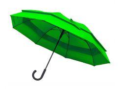 Зонт-трость Line Art Family полуавтомат большой зелёный (45300-9)