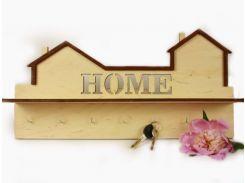 """Ключниця деревянная LaserBox ЛазерБокс """"HOME"""" (LBox-000013)"""