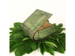 Шкатулка деревянная LaserBox ЛазерБокс зелёная (LBox-000002)