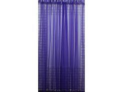 Тюль VR-Textil фатин фиолетовый монохромный 5 × 2,5 м (2090)