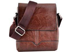 Мужская сумка Luvete Лювете с одним отделением коричневая (М2701-2)