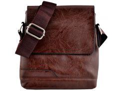Мужская сумка Luvete Лювете с одним отделением коричневая (М2702-2)