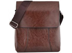 Мужская сумка Luvete Лювете с одним отделением коричневая (М2703-2)