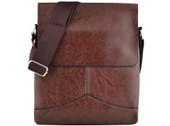 Мужская сумка Luvete Лювете с одним отделением коричневая (М2704-2)