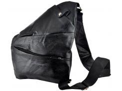 Мужская сумка Luvete Лювете с одним отделением черная (М12275-1)