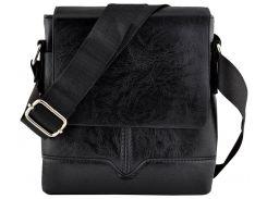 Мужская сумка Luvete Лювете с одним отделением черная (М2701-1)