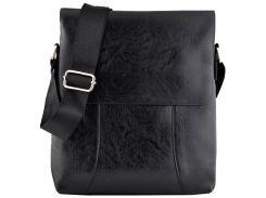 Мужская сумка Luvete Лювете с одним отделением черная (М2703-1)